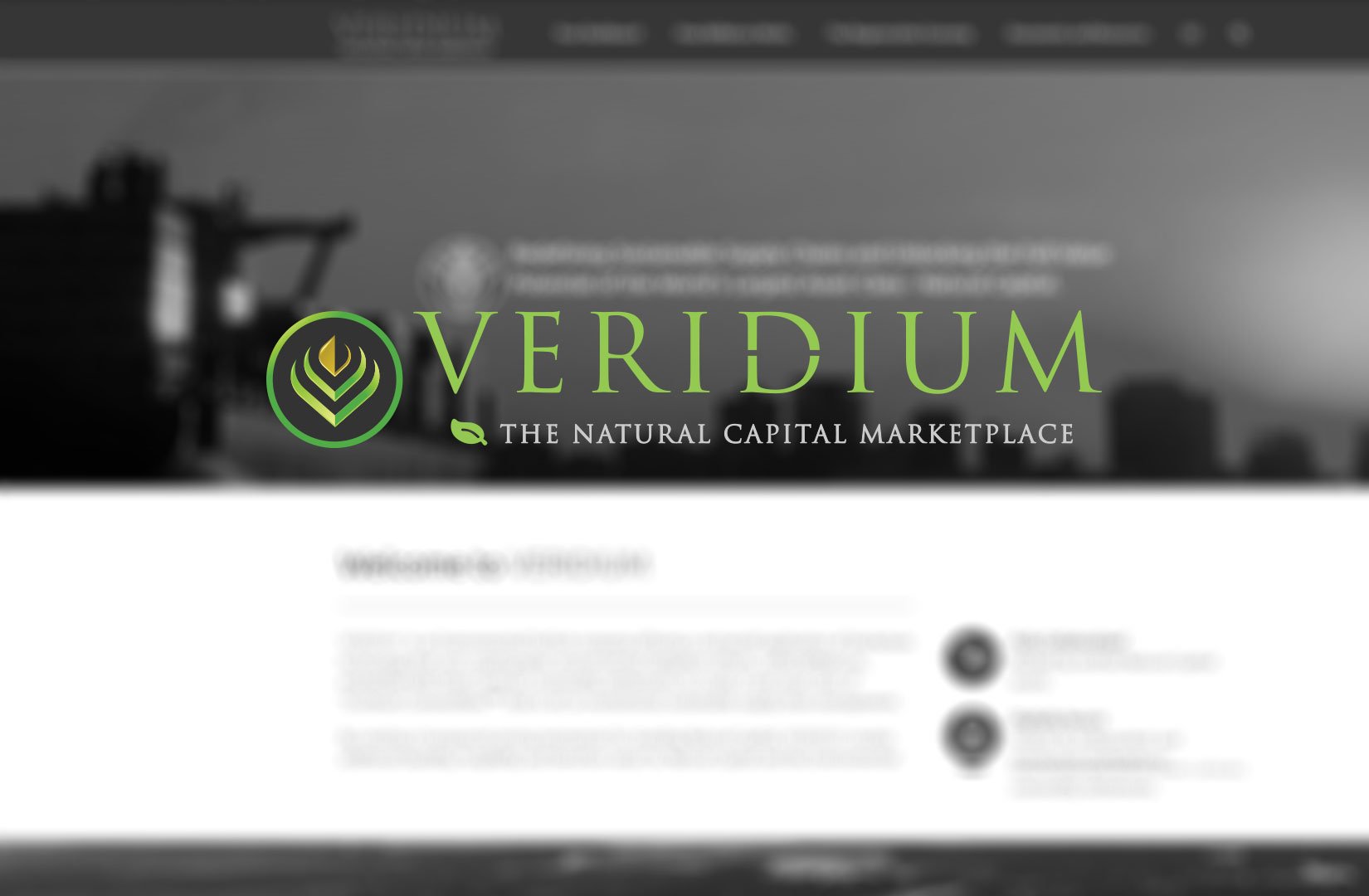 VERIDIUM is Redefining Sustainable Supply Chains and Unlocking the Full Value Potential of the World's Largest Asset Class - Natural Capital.